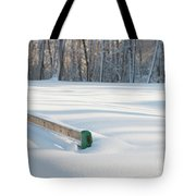 Peaceful Winter Snow Tote Bag