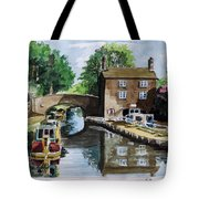 Peacfull House On The Lake Tote Bag