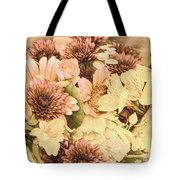 Peach And Yellow Boiquet Tote Bag