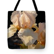 Peach Bearded Iris Tote Bag