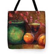 Peach Blossoms Tote Bag