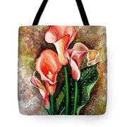 Peach Callas Tote Bag