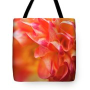 Peach Color Dahlia Tote Bag