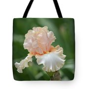 Peach Color Iris Tote Bag