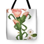 Peach Colored Iris Botanical Tote Bag