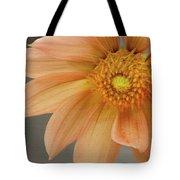 Peach Dahlia Tote Bag
