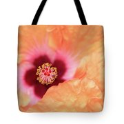 Peach Hibiscus - Macro Tote Bag