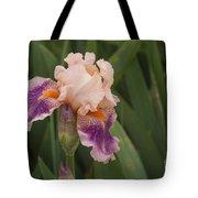 Peach Iris Tote Bag