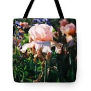 Peach Iris Tote Bag