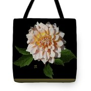 Peach-n-yellow Dahlia Cutout Tote Bag