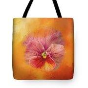 Peach Pansy Tote Bag