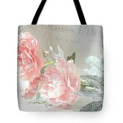 Peach Peonies Impressionistic Peony Floral Prints - French Impressionistic Peach Peony Prints Tote Bag