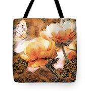 Peach Peonies Tote Bag