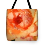 Peach Rose - Digital Painting Tote Bag