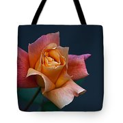 Peach Rose Bud Tote Bag