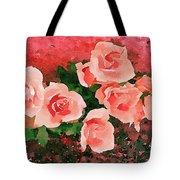 Peach Roses Tote Bag