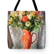 Peach Roses - Mini Tote Bag