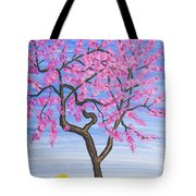 Peach Tree, Painting Tote Bag