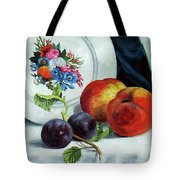 Peaches And Plums Tote Bag