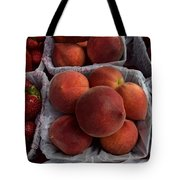 Peaches And Strawberries Tote Bag