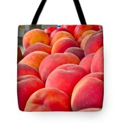 Peaches For Sale Tote Bag by Gwyn Newcombe