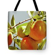 Peaches On The Tree Tote Bag