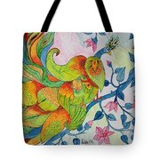 Peacock- Abstract Tote Bag