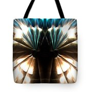 Peacock Art In Abstract Tote Bag