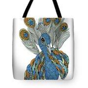 Peacock Tote Bag by Barbara McConoughey