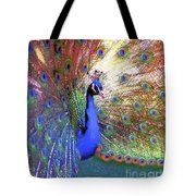 Peacock Beauty Colorful Art Tote Bag
