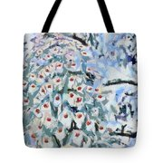 Peacock Blue Fragmented And Vegged Out Tote Bag