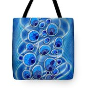 Peacock Bubbles Tote Bag