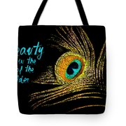 Peacock Feather 6 Tote Bag