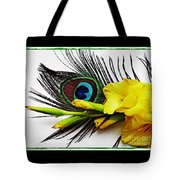Peacock Feather And Gladiola 4 Tote Bag