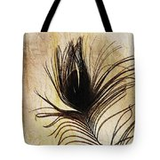 Peacock Feather Silhouette Tote Bag