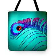 Peacock Feathers 5 Tote Bag