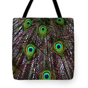 Peacock Feathers Upside Down Tote Bag
