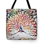 Peacock Fragmented And Vegged Out Tote Bag