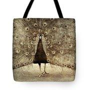 Peacock Grunge Tote Bag