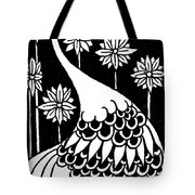 Peacock Illustration From Le Morte D'arthur By Thomas Malory Tote Bag