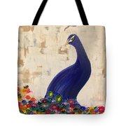 Peacock In My Garden Tote Bag