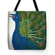 Peacock Iv Tote Bag