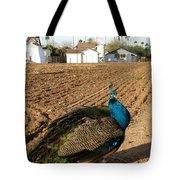 Peacock On The Farm Tote Bag