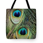 Peacock Pavo Cristatus Feather Detail Tote Bag