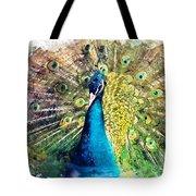 Peacock Watercolor Painting Tote Bag