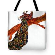 Peacock Xiii Tote Bag
