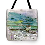 Peak District Uk Travel Sketch Tote Bag
