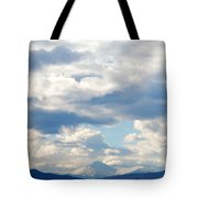 Peaks Among The Clouds Tote Bag