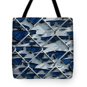 Pealing Paint Fence Abstract 3 Tote Bag