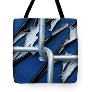 Pealing Paint Fence Abstract 5 Tote Bag